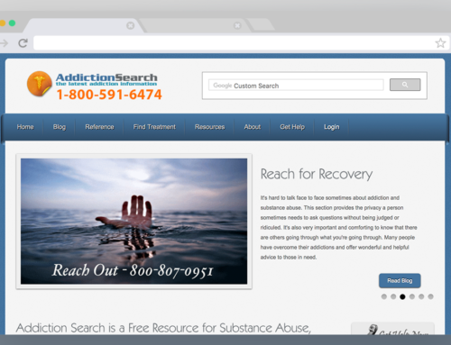 Addiction Search – Website Back end, Marketing