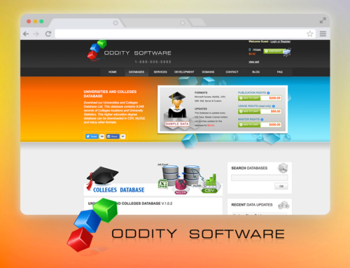 Oddity Software – Website, Back-end, Graphics