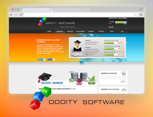 Oddity Software – Website, Back-end, Graphics